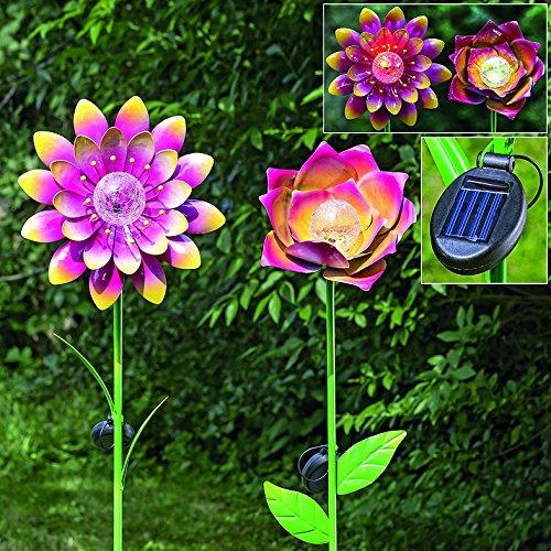 1 x Gartenstab Dota Eisen farbmix Höhe 144 cm Gartendeko, Gartenstecker (offene Blume - Dota 1