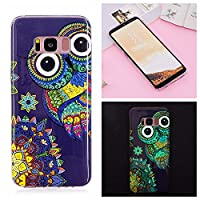 Mokyo Samsung Galaxy S8 Case,Luminous Effect Noctilucent Silicone Cover Night Glow in The Dark Shockproof Ultra Thin Soft TPU Gel Bumper Case with [Free Stylus Pen] Creative Colourful Pattern Printed Design Flexible Fluorescent Rubber Anti-Scratch Protect