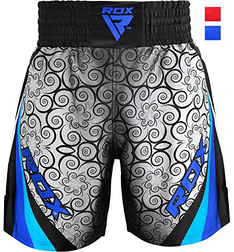 RDX Pantalones Boxeo Corto Entrenamiento Muay Thai Shorts Running Fitness MMA UFC Kickboxing