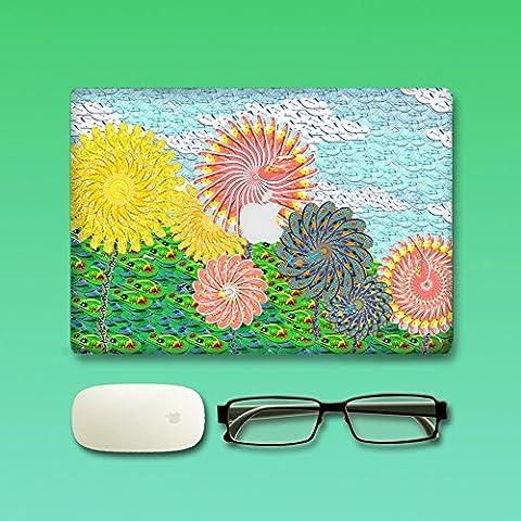 Macbook Aufkleber, Morbuy abnehmbare leuchtende Stil Vinyl Decal Schützend Sticker Abziehbild skin Abziehbilder Aufkleber Haut für Apple MacBook Pro / Air 13