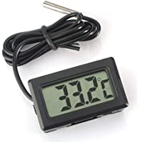 Eidyer Termometro digitale LCD Termometro con sonda esterna impermeabile per frigorifero Congelatore  Acquario Frigorifero Termometro portatile FishTank  4 8cm  times  2 8cm  times  1 5cm  cavo  100 cm