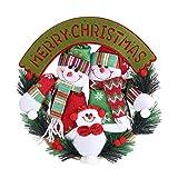 Corona dell'anello di Porta di Pendenti Appesa del Babbo Natale Pupazzo sulla Ghirlanda per Casa Decorazione(Snowman)