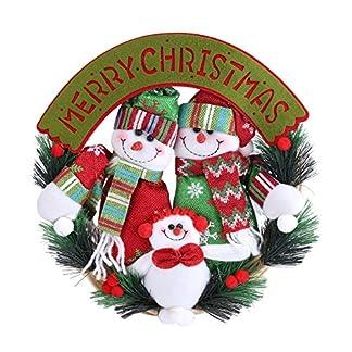 Zerodis- Guirnalda de Navidad Guirnalda Encantador Papá Noel Muñeco de Nieve Ciervo Puerta Adorno Colgante Decoración del hogar