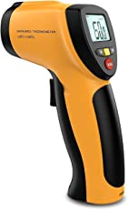 MCP Non-contact Digital Laser Infrared Thermometer with Back light LCD Display, Max/Min Mode (122F-1022F)