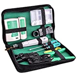 Kuman Network Cable Tester, RJ45 RJ11 Cat5 Wire Crimper Stripper with 10pcs Crystal Connctors Tool Set P9100...