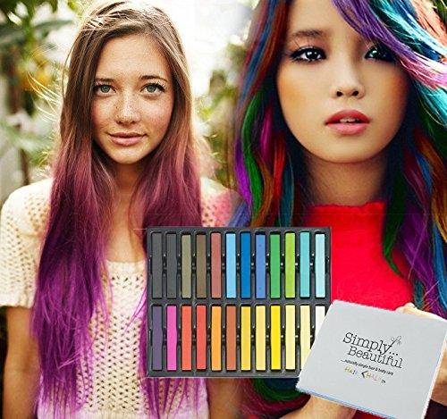 tiza de pelo color temporal del pelo, no tóxicas – Geniales para disfraces, trajes para representaciones y crear looks…