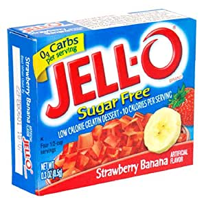 Jello Sugar Free Strawberry Banana Jelly Mix 8.4g