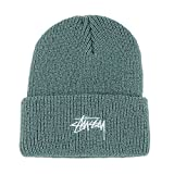 Stussy Stock Cuff Beanie Hat Light Green