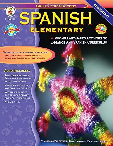 Spanish, Grades K - 5: Elementary (Skills for Success) by Cynthia Downs (2002-01-05)