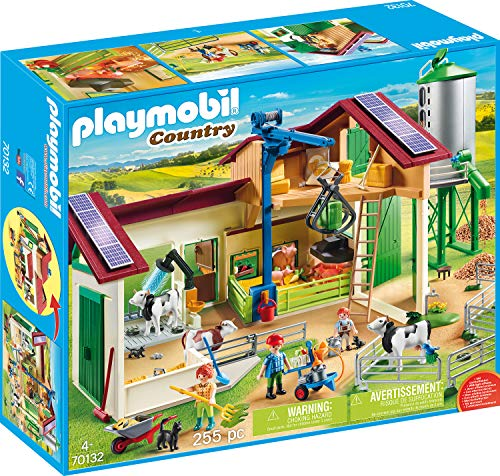 Playmobil 70132 Country Grande Ferme avec silo Multicolore