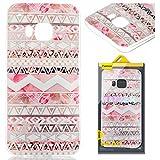 HTC ONE M9 Hülle, HTC M9 Case, Greetrass Weichem Silikon TPU Bumper Case Ultra Dünne Schutzhülle für HTC ONE M9 Handyhülle Handy Tasche Back Cover Rückseite Etui Schutz Schale mit Rote Rose Muster
