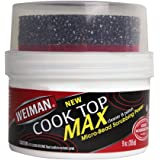 Weiman Cooktop Cleaner Max - 9 Ounce - Easily Remove Burned-On Food, Grease and Watermarks, Leaving Your Glass Cook Top Spark
