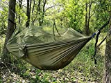 Colorfulworld® Außenhängematten/Ultraleichtflugzeuge Portable Fallschirm Tuch Hängematte Swing Hanging Bed High Strength for Camping Outdoors Hiking and Travel Hammock mit Moskitonetzen