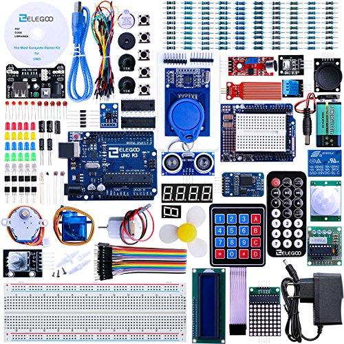 Elegoo Arduino-Compatible Carte UNO R3 Starter Kit De Démarrage avec Guide d'utilisation Français Le Plus Complet Mode Projet d'emploi Kit d'apprentissage