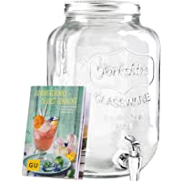 LEVIVO Distributeur de boissons en verre et livret exclusif GU Sommerdrinks [Langue française non garantie] - Fait à la…