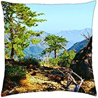Pine Trees Living on a Canyon RIM.–throw Pillow cover case (18