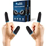 RPM Euro Games Finger Sleeves Pack of 2 Boxes/ 4 Pieces for Mobile Gaming with Super Conductive Fiber Fabric, Anti-Sweat and
