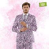 Funnysuits Rosie Jag Pinker Jaguar Anzug Mister Pink 3-Teiliges Kostüm Deluxe EU Size 56
