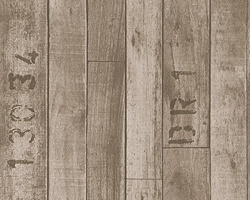 A.S. Création Vliestapete Authentic Walls Tapete in Vintage Holz Optik 10,05 m x 0,53 m braun Made in Germany 302591 30259-1