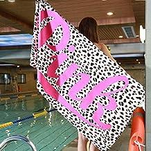 sunfree1 Pink Vitoria Europa y América Leopardo Gimnasio Fitness Rosa Deportes natación 145 * 75cm Toalla