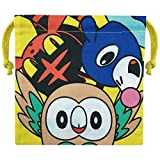 Piccolo Planet Pokemon Sun & Moon Rowlet, Litten, Popplio borsa per il pranzo Bento Box PMKN516