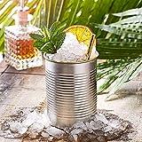 Blechdose Cocktail Cup Silber, 280ml/10oz, 4Stück Neuheit Cocktail Becher in der Form eines Bean kann