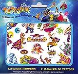 TATTOOIK Super héros Tatouage ephemere temporaire hypoallergénique Fabriqué en FRANCE 2 planche 40 tattoos environ Enfant Fille Garçon