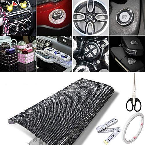 18000 adesivi a rete con diamanti sintetici, per auto, matrimoni, torte, vasi, decorazioni per feste, decorazioni fai da te Nero