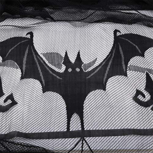 orhang Dekoration Halloween Stil Bat Spiderweb Muster Vorhang Dekor für Zuhause Horror Ereignis Party Supplies ()