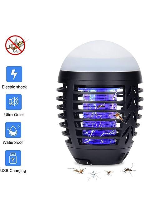 ZARLLE Linterna de Camping Lámpara Mosquitos Electrico Repelente ...