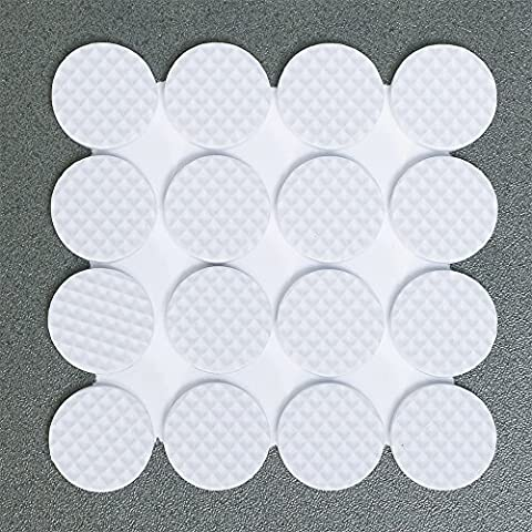 Tatkraft Rolf Furniture Self-adhesive Round Rubber Pads 20X20mm Heavy Duty Chair Floor Protector (Set of 32 pcs)
