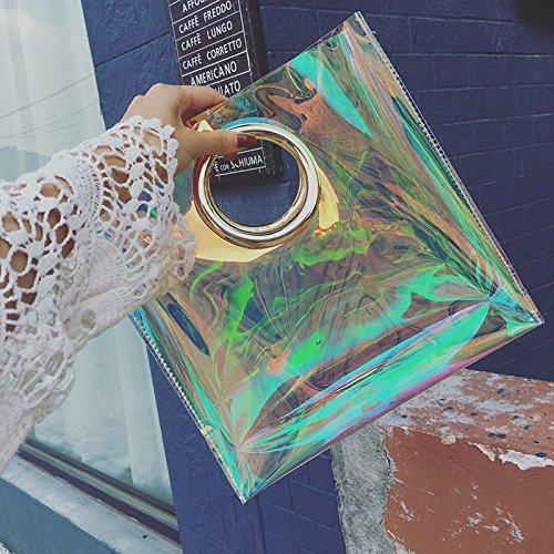 Neuen Laser transparente Paket, Jelly bag, Ring wickeln, große Kapazität, Laser Farbe Transparent color