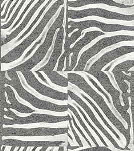 Papier peint blanc et gris Zèbre