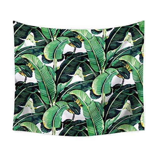 OTIAN Boho Pflanze Grün Wandteppich Tropische Blumen Malerei Wand Tuch Wandteppiche Dekorationen Geburtstagsgeschenk Decke