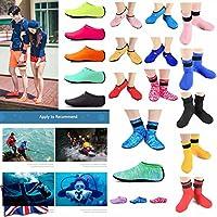 ZEDACA® Agua Calcetines Descalzo Deportes Piel Zapatos Playa Surf Buceo casa Zapatillas Piscina natación Yoga Calcetines para niños Hombres Mujeres