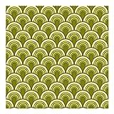 Papier peint non tissé - Abri de jardin vert rétro - Large