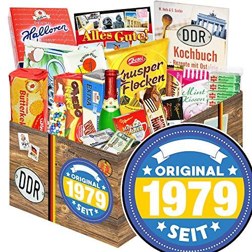 Original seit 1979 / DDR Korb Schokolade / Geschenk zum 40. Geburtstag