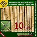10 Stück Bambusstäbe für Rankgerüste oder Rankhilfen von GREEN24. D10-12mm 106 cm lang von GREEN24 auf Du und dein Garten