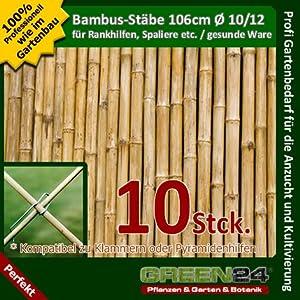 Bambusstäbe 120cm Rankstäbe Bambusstöcke 25 Stück Natur Balkon Garten Bambus