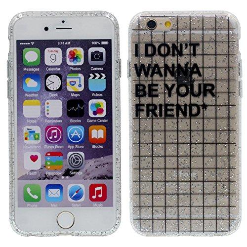Apple iPhone 6 6S 4.7 inch Coque Housse de protection Case, Très Mince Poids Léger Transparent Flexible TPU Original Créatif Désign - Lick Me color-1