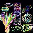 Ammy Glow Kniklichten, 100 stuks, neonlichtstaafjes voor bruiloft, lichtarmbanden, glowingsticks, kettingen en lichtbrillense