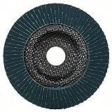 Bosch Pro Fächerschleifscheibe Expert for Metal zum Schleifen von Metall  für Winkelschleifer (Ø 125 mm, Körnung 120, gewinkelt) - 2