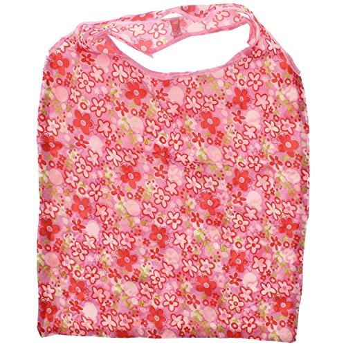 Zac 's Alter Ego® Einkaufstasche in/Waschtisch aufsteckbar Pocket Tasche Baby Pink with Floral Print