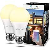 LE Lampadina LED E27 Intelligente Alexa, 9W=60W, Lampadina WiFi Bianco Caldo 2700K Luminosità Dimmerabile, Lampadine Smart Fu