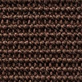 Teppichboden Auslegware | Sisal Naturfaser Schlinge | 400 cm Breite | dunkel-braun | Meterware, verschiedene Größen | Größe: 3 x 4m