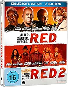Red 1+2 Steelbook [Blu-ray] [Import allemand]