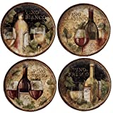 "Certified International Gilded Wine Salad/Dessert Plates (Set of 4), 9"", Multicolor"