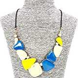 Best Amazon Collection Friends Gold Necklaces - Comelyjewel Fashion Jewellery Girls Party Gold Yellow Blue Review