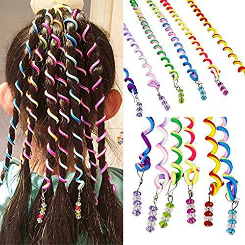 12 Kostüme (Sasairy Frauen Mädchen 12 Stück Bunte Haar Torsion Haarschmuck mit Strass Haar Accessoires)