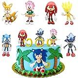 SUNSK Decoración De Pastel De Sonic Cake Topper Hedgehog Decoración de pastel de cumpleaños de dibujos animados para Cumpleañ